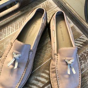 Anne  Klein pink loafers